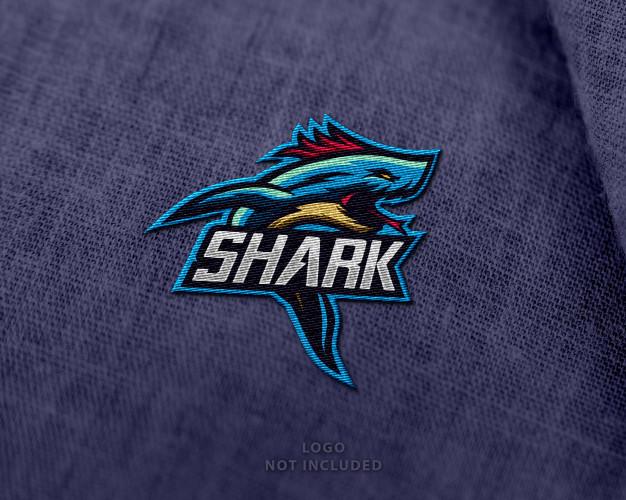 custom embroidered brand logo on a shirt